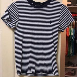 Ralph Lauren navy & white striped tee shirt